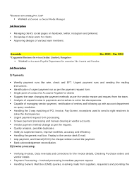 Account Payable Job Description Resume by Resume
