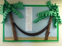 Ideas For Christmas Tree Bulletin Board by Summer Birthday Bulletin For Church 3d Palm Trees Hammock Sand