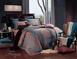 Damask Duvet Cover King Amazon Com Dolce Mela Dm477q Jacquard Damask Luxury Bedding Duvet