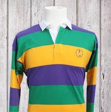 mardi gras polo shirts mardi gras rugby shirt purple with mg stripes pelican coast