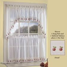 Kitchen Tier Curtains Apple Orchard Sheer Kitchen Tier Window Treatment