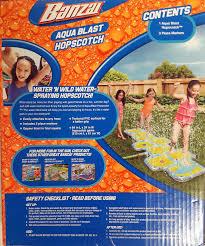 amazon com banzai aqua blast hopscotch water splash pad toys u0026 games