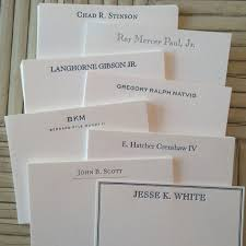 letterpress stationery men s personalized letterpress stationery