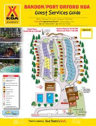 Oregon Coast Camping Map by Langlois Oregon Campground Bandon Port Orford Koa