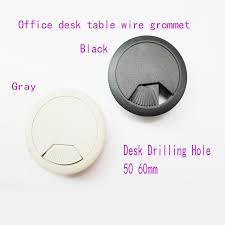 Plastic Desk Cover Protector 50mm Computer Table Cable Plastic Grommet Office Desk Wire Hole