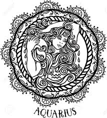 zodiac aquarius tribal decorative wool pattern beautiful