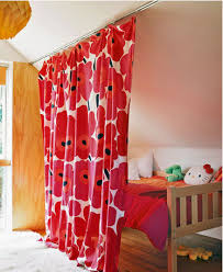 Room Dividers For Kids - drapery partition idea for kids that want privacy in shared room