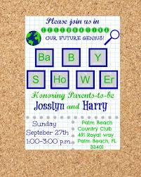 country themed baby shower invitations nerd geek chic science themed printable baby shower invitation