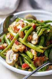 15 minute green beans with bacon mushroom sauce u2014 eatwell101
