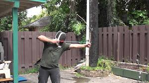 shooting and breaking a red oak wooden bow youtube