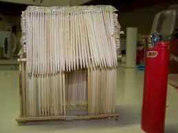 toothpick house i made a toothpick house by da reka on deviantart