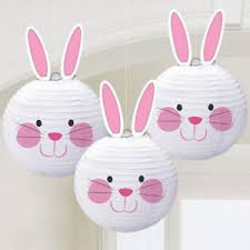 easter bunny decorations easter bunny shaped paper lantern hanging decorations x 3