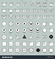 laundry line design laundry symbols line design washing ironing stock vector 478363051