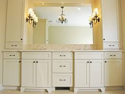 Bathroom Counter Storage Tower Master Bathroom Double Vanity With Towers Traditional