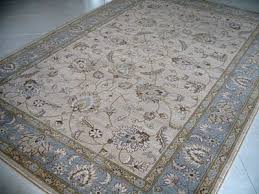 Duck Rugs New Afghan Ziegler Style Beige Duck Egg Blue Wool Rug 1 8 X 1 2m