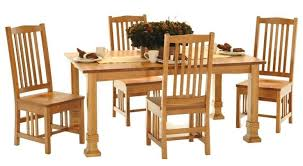 Mission Style Dining Room Furniture American Amish Grand Mission Dining Leg Table With Four Mission