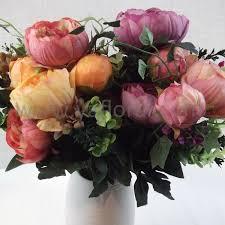 bulk peonies bulk peonies wedding flowers silk white peony bouquet wedding