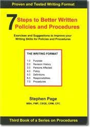 policies and procedures writing easy to use methods and processes