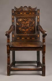 Oak Armchair Mid 17th Century Inlaid Oak Armchair Beedham Antique Ltd