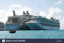 the oasis of the seas royal caribbean cruise ship docked at the