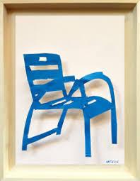chaise bleue artnice editions metal paintings la chaise bleue de