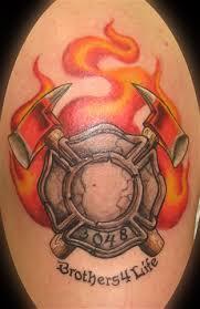 fireman maltese cross moon and tattoos