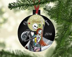 Anniversary Ornament Nightmare Before Christmas Decor Etsy