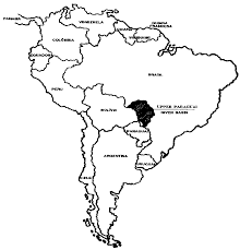 South America Rivers Map by