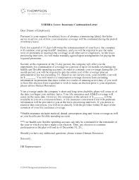 Human Resources Representative Userra Leave Insurance Continuation Letter Alexander Street