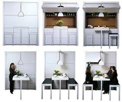 Transforming PullOut Dining Room Wall Furniture - Pull out dining room table
