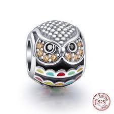 pandora bracelet charms silver images 925 silver bracelet charm jeweled owl charm fits pandora jpg