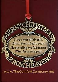 merry from heaven the memorial ornament