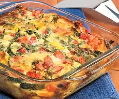 egg strata casserole summer vegetable strata recipe finecooking