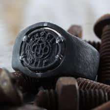 custom rings for men carpe diem black custom mens signet ring