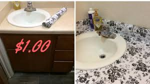 contact paper 1 00 dollar tree diy countertop with contact paper 2017 youtube