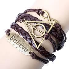 vintage infinity bracelet images Vintage bracelet harry porter believe motto infinity bracelet jpg