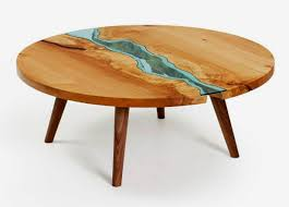 Wood And Glass Coffee Table Designs Wooden Coffee Table Design With Glass Rivers And Lakes