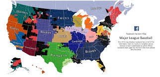 here u0027s facebook u0027s 2015 mlb fandom map