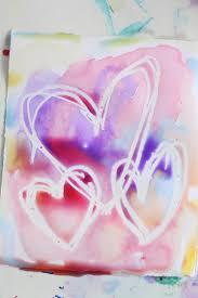 sweet art project wax resist valentine u0027s cards color paints