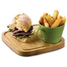 de cuisine de de cuisine rustic oak board square 20cm wooden board box of 4