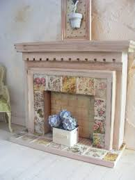 Shabby Chic Fireplace Mantels by Miniature Shabby Chic Fire Surround 12th Scale Dolls Girls