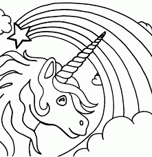 printable unicorn coloring page coloring home
