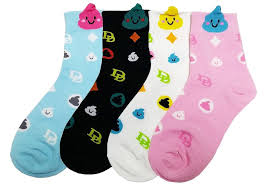 fancy poo emoticon silly socks set a true emoji statement jjmaxus