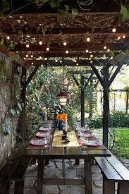 Backyard String Lighting by Patio Light Ideas Fairy Lights Hanging Over A Garden In Inspiration