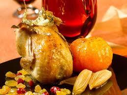 cailles sur canapé cailles rôties farcies aux clémentines airelles et raisins