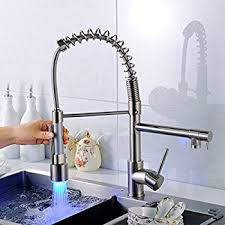 kitchen sink and faucet lightinthebox led kitchen sink faucet sprayer nozzle