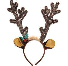 deer headband plush reindeer antlers headband party city