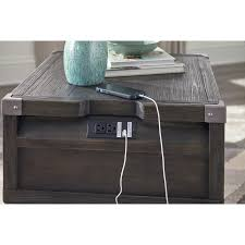 Wolf Furniture Outlet Altoona by Rectangular End Table With Outlet U0026 Usb Chargers By Signature