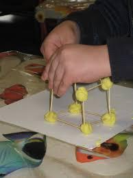 playdough with toothpicks