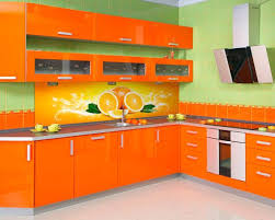 View In Gallery Modern Kitchen Cabinets In A Rustic Setting - Orange kitchen cabinets